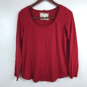 Anthropologie Pure + Good Shirt Dark Red Top